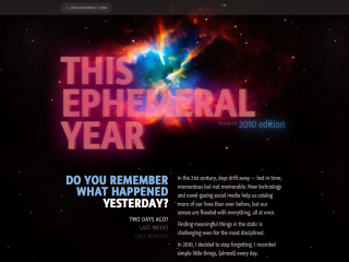 This Ephemeral Year (2010) by jonasd